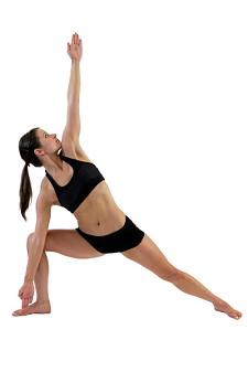 Bent Knee Triangle Pose