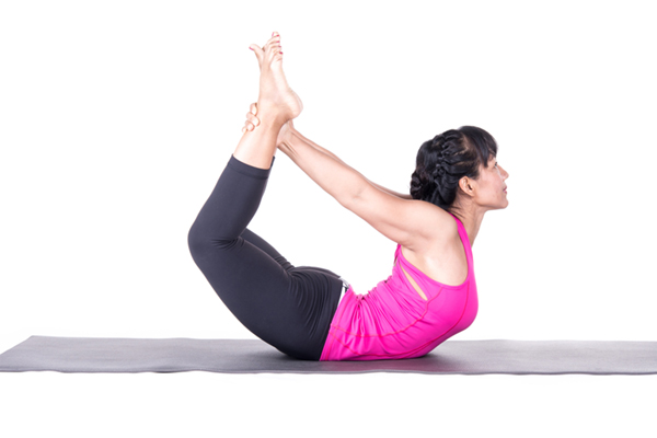 Floor Bow Pose grab on the inside of ankle on DrStandley.com