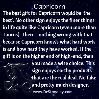 All about Capricorn on DrStandley.com