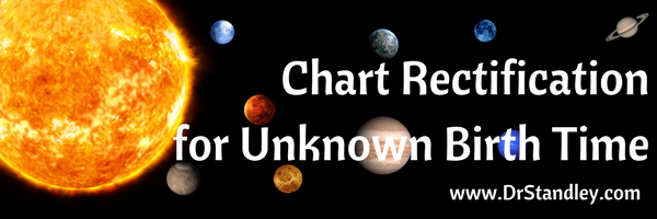 Chart Rectification for Unknown Birth Time on DrStandley.com