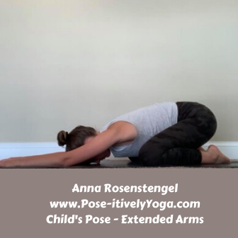 Childs Pose with Extended Arms