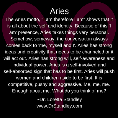 Aries Astro Meme on DrStandley.com - Click and Share!