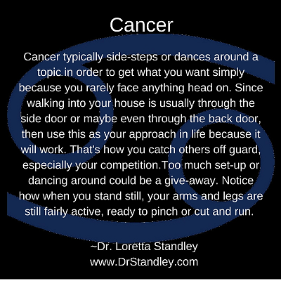 Cancer Astro Meme on DrStandley.com - Click and Share!