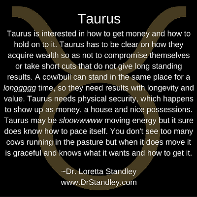 Taurus Daily Horoscope June 21 on DrStandley.com
