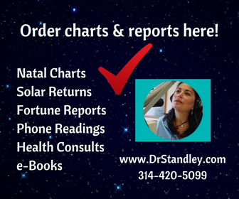 Natal Chart, Solar Returns, 15, 30, 60 or 90 minute readings with Dr. Standley on DrStandley.com