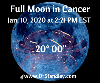 Full Moon in Cancer on January 10, 2020 on DrStandley.com