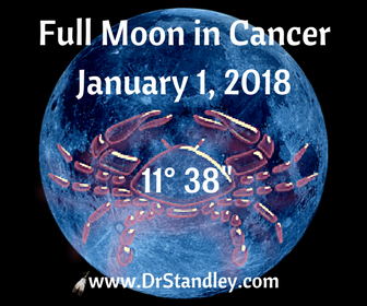 Full Moon in Cancer on January 1, 2018 on DrStandley.com