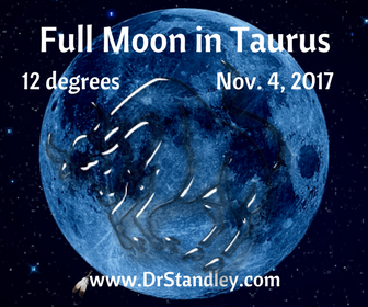 Full Moon in Taurus at 12 degrees - Saturday, November 4, 2017 at 1:23 AM EDT