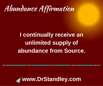 I receive unlimited supply affirmation on DrStandley.com