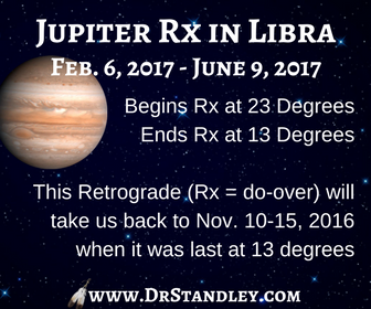 Jupiter Retrograde in Libra on DrStandley.com