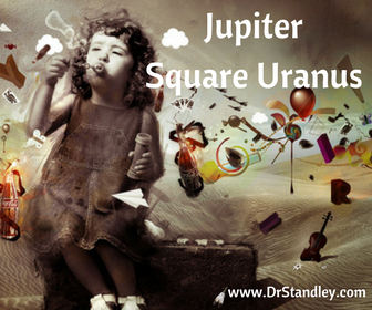 Jupiter square Uranus inhibiting conflicts limit goals and achievements. Speculation has a tendency to go off the deep end in handling financial matters. Long-shot gambles that may tempt you, rarely work out.
