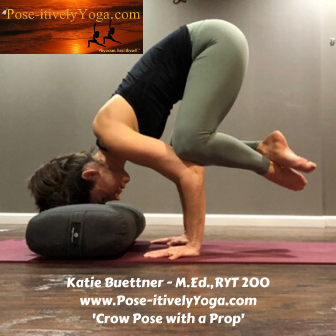 Katie Buettner - Crow Pose with a Prop on www.DrStandley