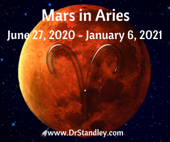 Mars in Aries from June 27, 2020 until January 6, 2021 on DrStandley.com
