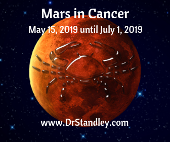Mars in Cancer shows aggression, fighting or challenges in the home and domestic sphere on DrStandley.com