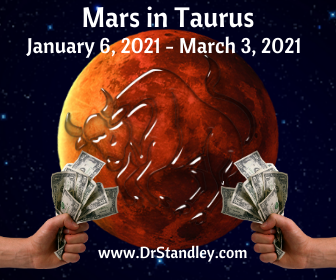 Mars in Taurus pulls no punches when it is acquiring money.  Read more on DrStandley.com