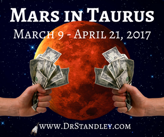 Mars in Taurus transit on DrStandley.com