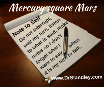 Mercury square Mars on DrStandley.com