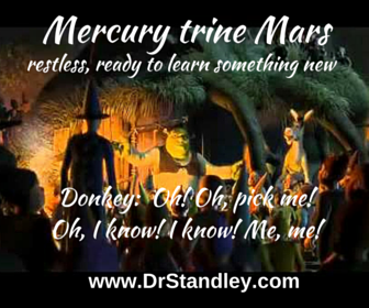 Mercury trine Mars aspect on DrStandley.com