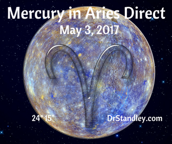 Mercury in Aries 'Direct' on DrStandley.com