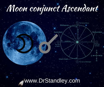 The Moon conjunct the Ascendant (Rising Sign) aspect - on