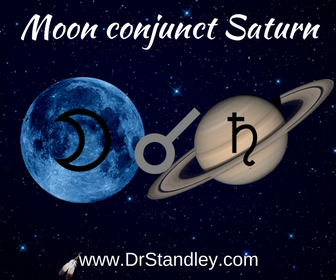Moon conjunct Saturn on DrStandley.com