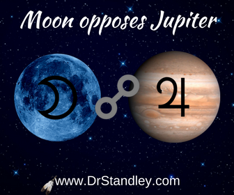 Moon opposing Jupiter on DrStandley.com