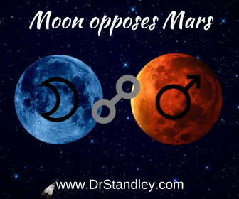 Moon opposing Mars on DrStandley.com