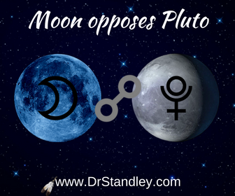 Moon opposing Pluto on DrStandley.com