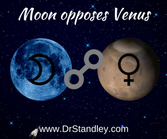 Moon opposing Venus on DrStandley.com