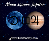 Moon square Jupiter on Wednesday, March 20, 2019 on DrStandley.com