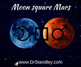 Moon square Mars on Saturday, March 31, 2018 on DrStandley.com