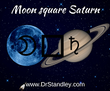 Moon square Saturn on Saturday, March 31, 2018 on DrStandley.com