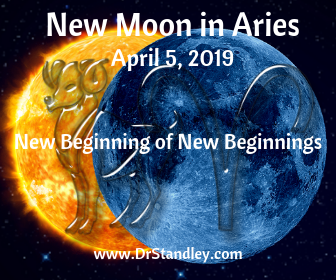 New Moon in Aries on April 5, 2019 on DrStandley.com