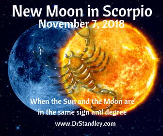 The New Moon in Scorpio signifies a new cycle (new beginning) in the sector of other people's money, loans, partner's money, insurance, wills, beneficiaries, mortgages, windfalls, lotteries and money that comes through sources that are not your own.