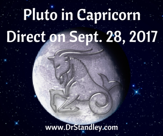 Pluto in Capricorn Direct in your Generational Horoscope on DrStandley.com