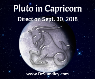 Pluto in Capricorn turns Direct on DrStandley.com