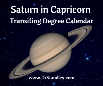 Saturn in Capricorn Transiting Degrees Calendar December 19, 2017
