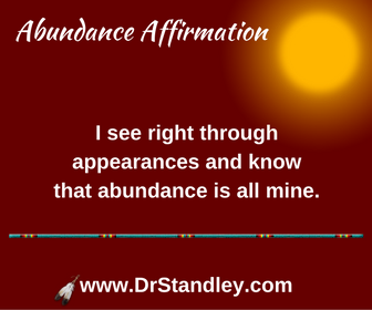 See through appearances affirmation on DrStandley.com