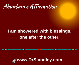 Showered with blessings affirmation on DrStandley.com