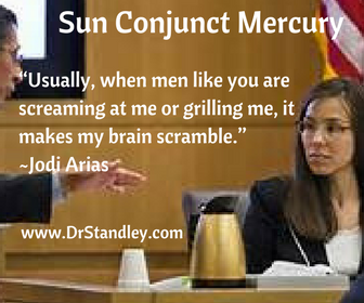 Sun conjunct Mercury aspect on DrStandley.com