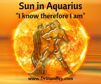 Sun in Aquarius on DrStandley.com