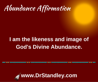 The likeness of abundance affirmation on DrStandley.com