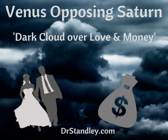 Venus opposing Saturn on DrStandley.com