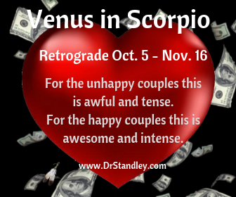 Venus in Scorpio Retrograde on DrStandley.com