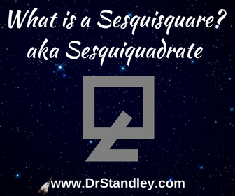 What is a Sesquisquare aspect in astrology?
