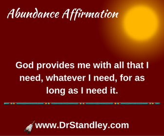Whatever I need affirmation on DrStandley.com